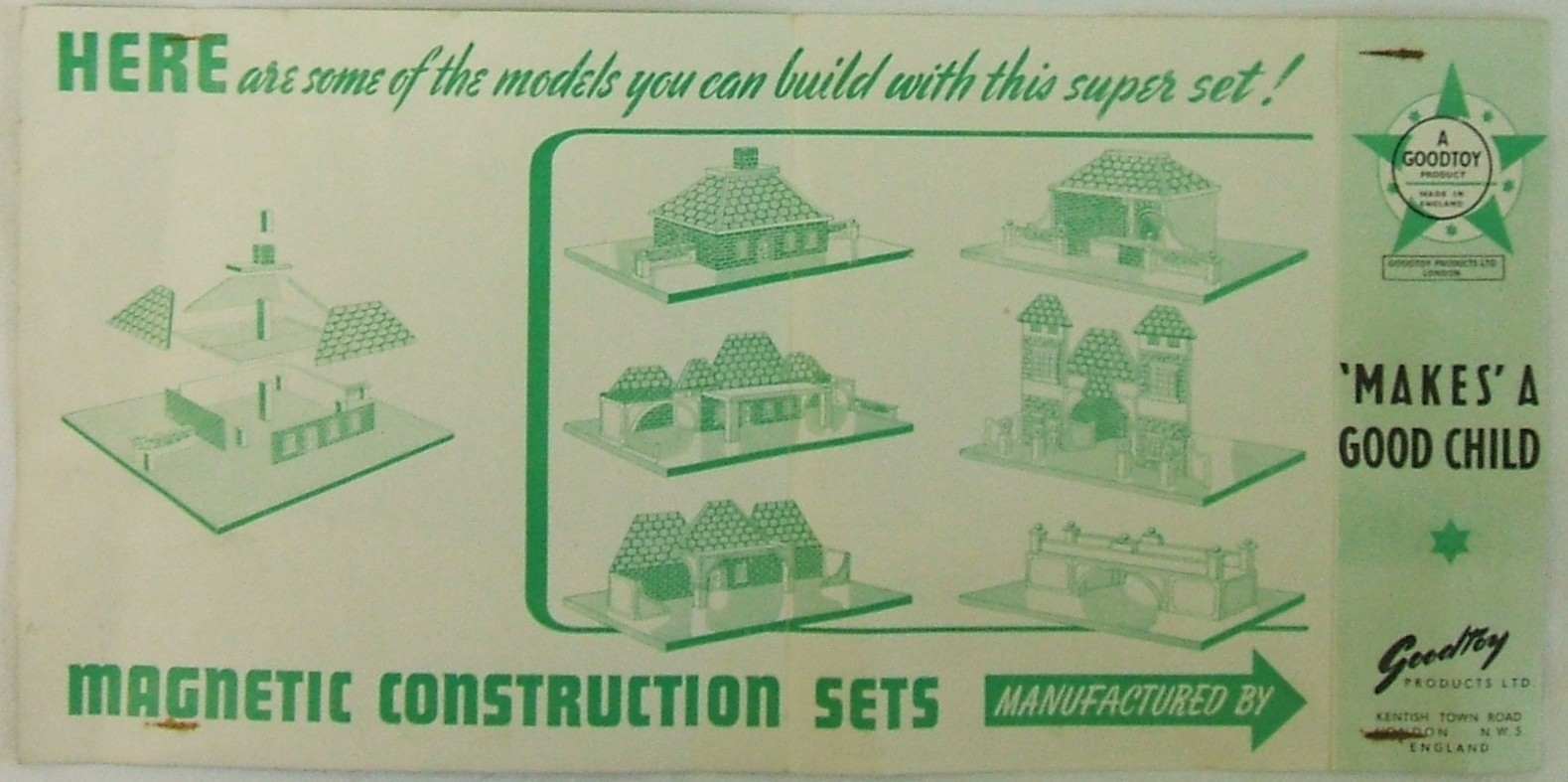 Magnetic Constructional Toys leaflet